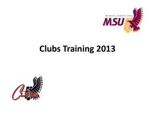 Clubs Training 2013