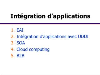 Intégration d'applications