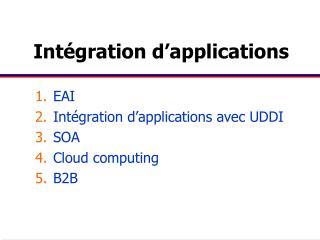 Intégration d'applications