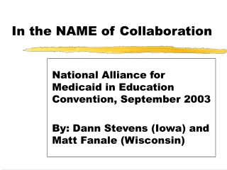 Medicaid in Education