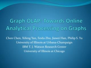 Graph OLAP: Towards Online Analytical Processing on Graphs