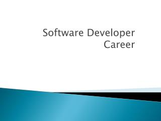 Software Developer  Career
