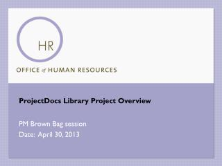 ProjectDocs  Library Project Overview