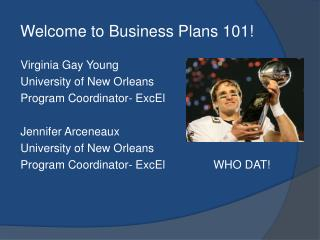 Welcome to Business Plans 101!