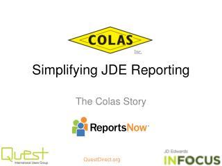 Simplifying JDE Reporting