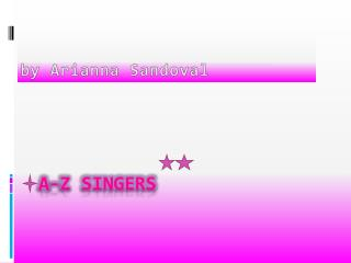a-z singers