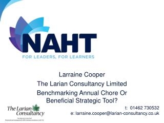 Larraine Cooper The Larian Consultancy Limited Benchmarking Annual Chore Or Beneficial Strategic Tool?