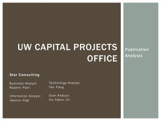 UW Capital Projects Office