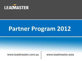 Partner Program 2012