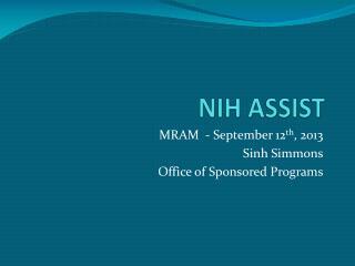 NIH ASSIST