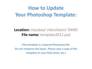 How to Update Your Photoshop Template: