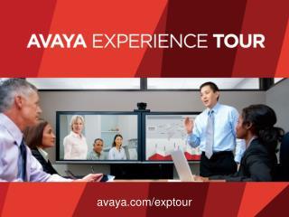 avaya.com/exptour