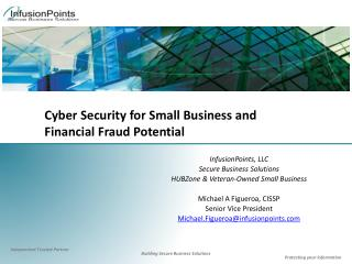 Cyber Security for Small Business and  Financial Fraud Potential