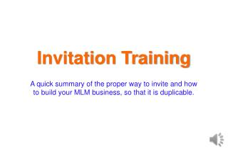 Invitation Training