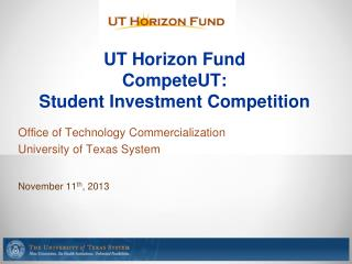 UT Horizon Fund CompeteUT : Student Investment Competition