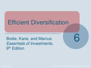 Efficient Diversification