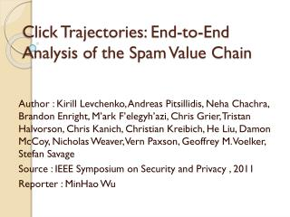 Click Trajectories: End-to-End Analysis of the Spam Value Chain