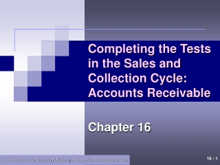 Auditing the Sales and Collections Cycle