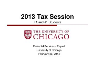 2013  Tax Session  F1 and J1 Students