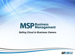 Selling Cloud to Business Owners