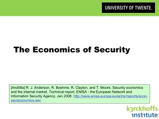 The Economics of Security