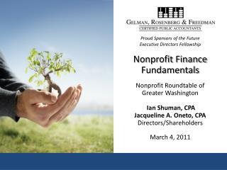 Ian Shuman, CPA Shareholder/Director, Gelman, Rosenberg & Freedman, CPAs