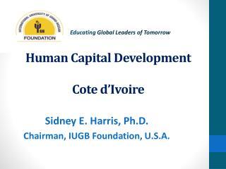 Human Capital Development Cote d'Ivoire