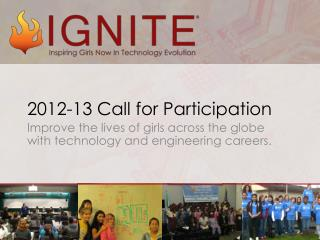 2012-13 Call for Participation
