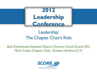 Leadership: The Chapter Chair's Role