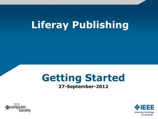 Liferay  Publishing