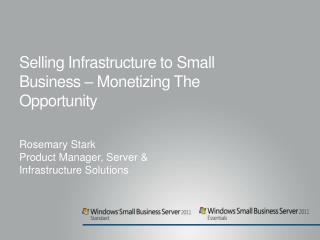 Selling Infrastructure to Small Business –  Monetizing The Opportunity