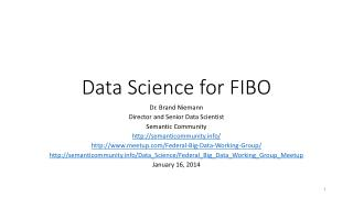 Data Science for FIBO