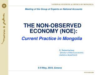 THE  NON-OBSERVED  ECONOMY (NOE): C urrent Practice in Mongolia