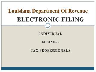 Louisiana Department Of Revenue