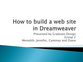 How to build a web site in Dreamweaver