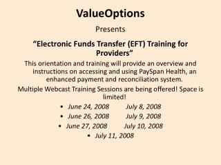 ValueOptions  Presents