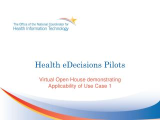 Health eDecisions Pilots