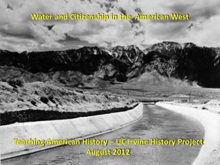 Water and Citizenship in the  American West