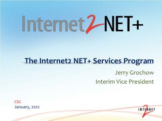 The Internet2 NET+ Services Program