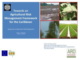 Carlos  Enrique  Arce Agriculture Risk Management Team             Agricultural  and Rural Development  Departmen