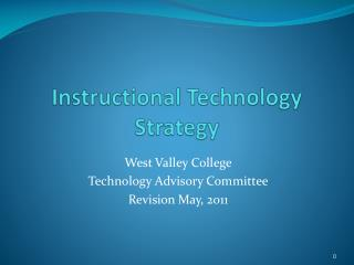 Instructional Technology Strategy