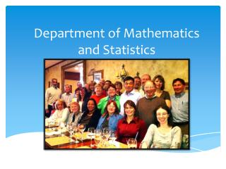 Department of Mathematics and Statistics