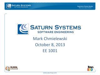 Mark Chmielewski October 8, 2013 EE  1001