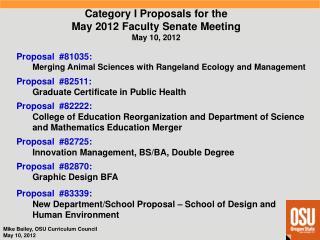 Proposal  #82511 : Graduate Certificate in Public Health