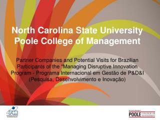North Carolina State University Poole College of Management