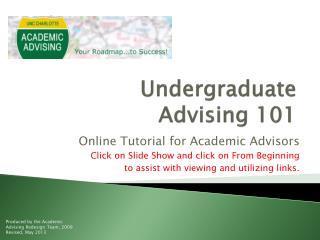 Undergraduate Advising 101