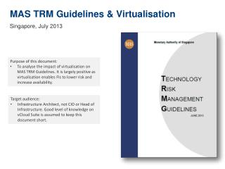 MAS TRM Guidelines & Virtualisation