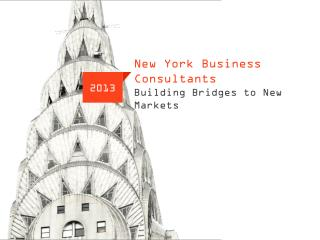 New York Business Consultants Building Bridges to New Markets