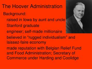 The Hoover Administration