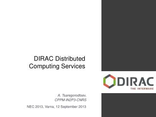DIRAC Distributed Computing Services